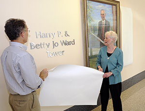 Betty Jo Ward's name Added to Harry P. Ward Tower