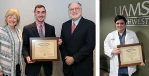 UAMS Honors Two Students with Scheving, Marvin Awards