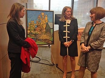 Painting Honors Lana Rahn for Arts Council Work